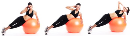 fitball-side-crunches