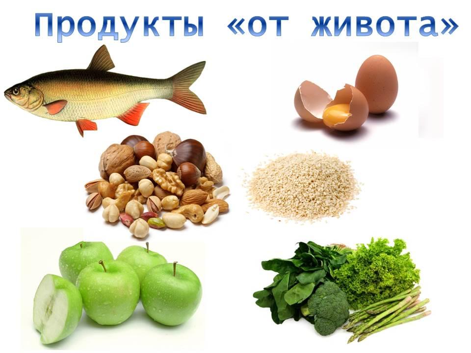 продукты от живота