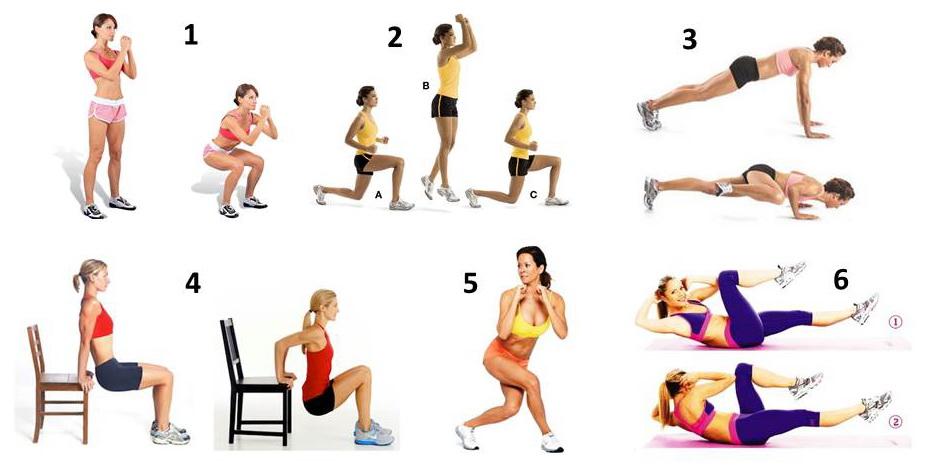 Самые эффективные упражнения для девушек в домашних условиях