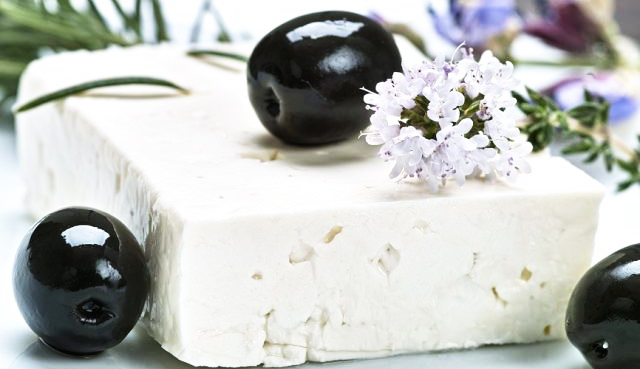 Sheep's milk cheese with herbs and olives