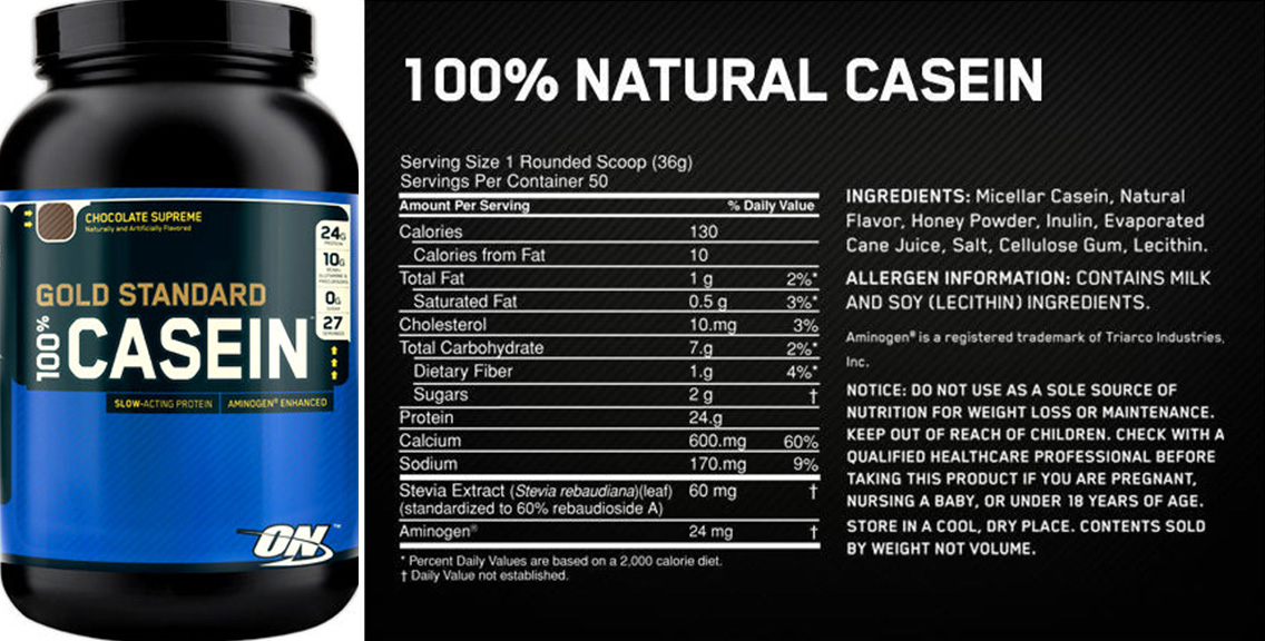 Gold Standard Casein (Optimum Nutrition)
