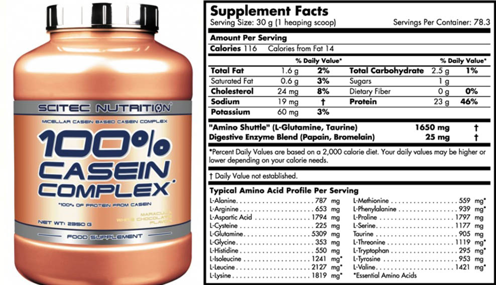 100% Casein Complex (Scitec Nutrition)